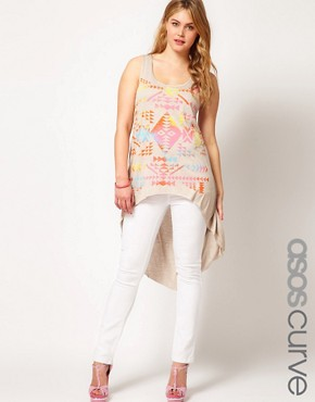 Image 1 ofASOS CURVE Exclusive Skinny Jean In White #4
