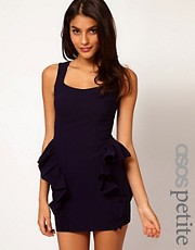 ASOS PETITE Exclusive Mini Dress With Side Peplum