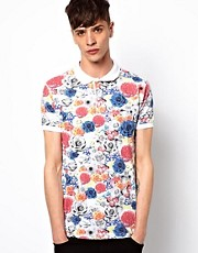 New Love Club Polo Shirt All Over Floral