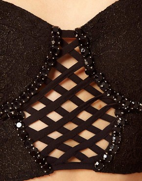 Image 3 ofFreak Of Nature Jewelled Lattice Bustier Top