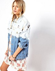 ASOS RECLAIMED VINTAGE Denim Jacket with Slashing