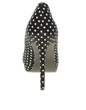 Image 2 ofASOS PASSION Platform Peep Toe Court Shoes