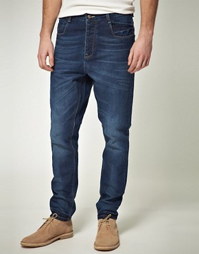 Image 1 ofASOS Blue Tapered Jean