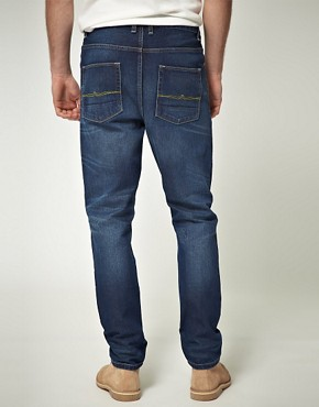 Image 2 ofASOS Blue Tapered Jean