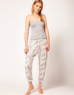 Image 1 ofOysho Paisley Harem PJ Pant