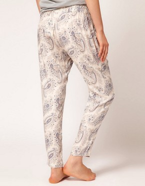 Image 2 ofOysho Paisley Harem PJ Pant