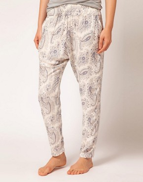 Image 4 ofOysho Paisley Harem PJ Pant