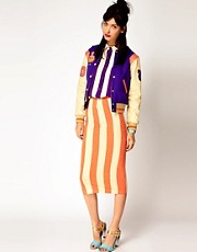 House of Holland Striped Tube Skirt