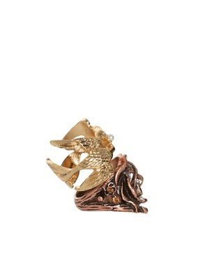 Image 4 ofASOS Flower &amp; Bird Multifinger Rings