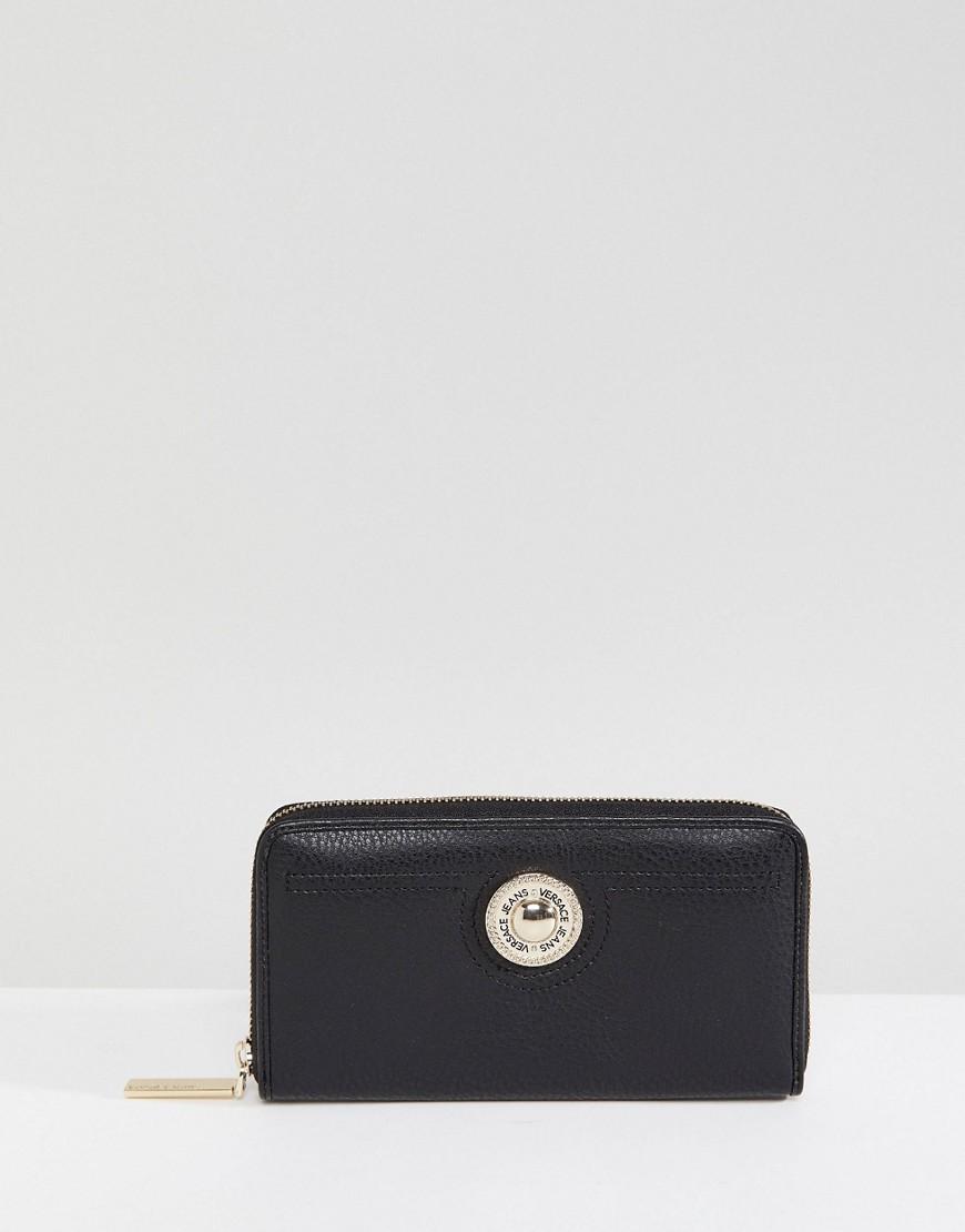 Кошелек на молнии Versace Jeans - Черный