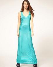 ASOS Maxi Dress in Sheer Stripe