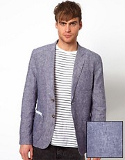 Selected - Blazer in chambray
