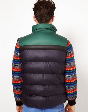 Image 2 ofPuffa Gilet with Contrast Shoulders