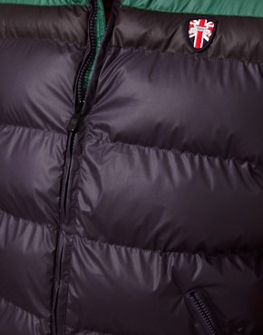 Image 3 ofPuffa Gilet with Contrast Shoulders
