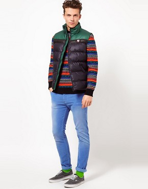 Image 4 ofPuffa Gilet with Contrast Shoulders