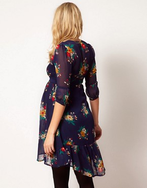 Image 2 ofASOS Maternity Chiffon Tea Dress In Floral Print