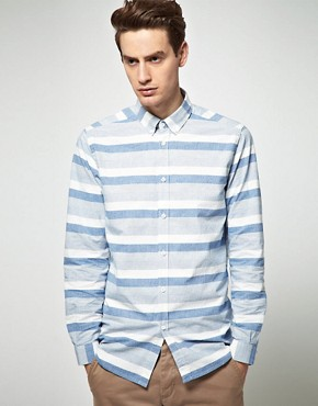 Image 1 ofSamsoe Samsoe Stripe Shirt