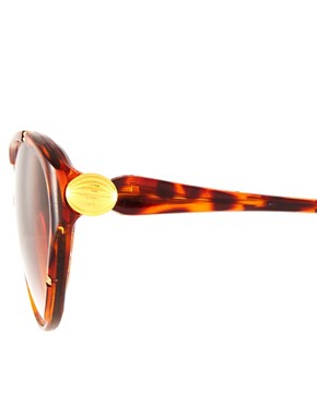 Image 3 ofJeepers Peepers Vintage Exclusive to ASOS Tortoiseshell Cat Eye Sunglasses