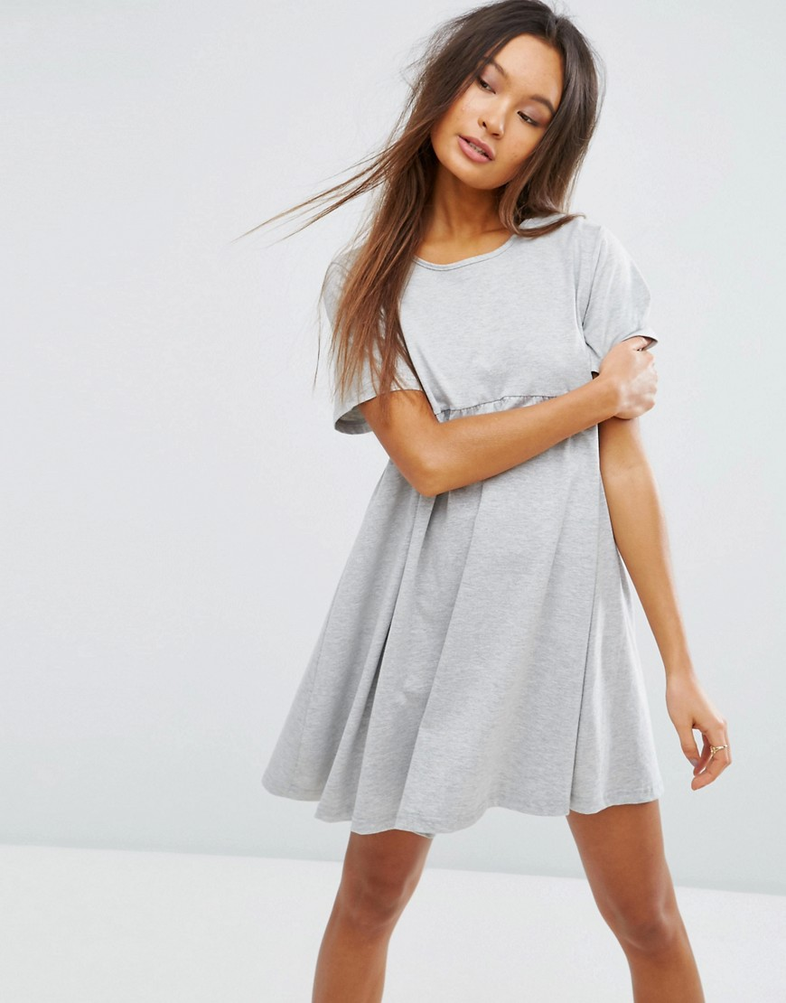 ASOS Ultimate Smock Dress - Gray