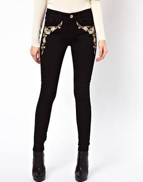 Image 1 ofOasis Embroidered Skinny Jean