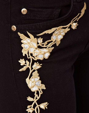 Image 3 ofOasis Embroidered Skinny Jean