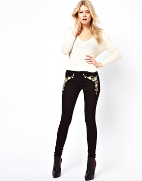 Image 4 ofOasis Embroidered Skinny Jean