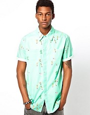 Altamont Shirt Short Sleeve Skatebirds Print