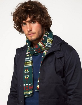 Image 3 ofASOS Green Aztec Scarf