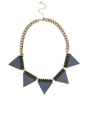 Image 2 ofASOS Big Bunting Necklace