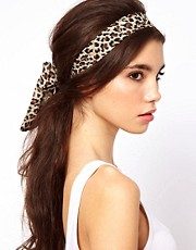 ASOS Leopard Scarf Hair Band