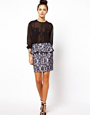 Oasis Skirt In Bonded Lace