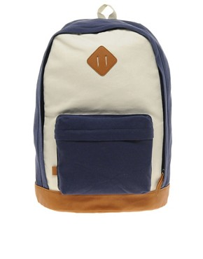 Image 1 ofASOS Contrast Canvas Backpack