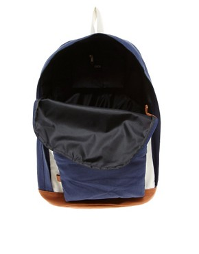 Image 2 ofASOS Contrast Canvas Backpack