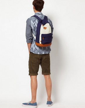 Image 3 ofASOS Contrast Canvas Backpack