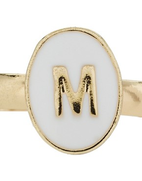 Image 2 ofASOS &#39;M&#39; Mini Initial Adjustable Ring