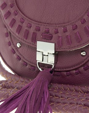 Image 2 ofFrench Connection Tassle Tastic Saddle Bag