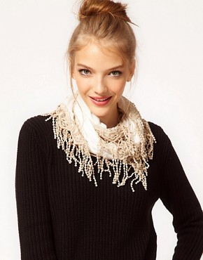 Image 1 ofDarling Scarf With Tassel Trim