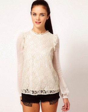 Image 1 ofRiver Island High Neck Blouse