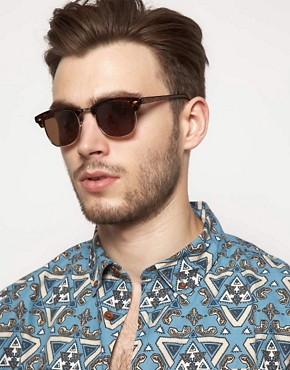 Image 3 ofASOS Clubmaster Sunglasses
