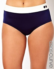 ASOS CURVE Exclusive Contrast Bikini Brief