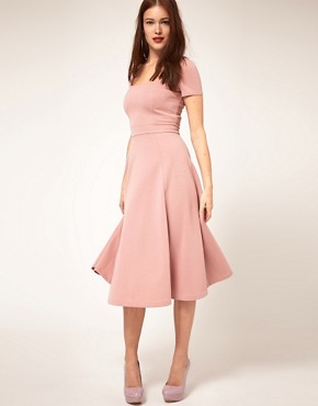 Image 4 ofASOS Midi Dress With Square Neck