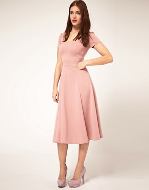 Image 1 ofASOS Midi Dress With Square Neck