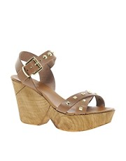 Carvela Karla Leather Wooden Sandals