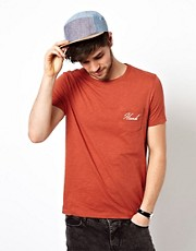 ASOS T-Shirt With Embroidery Pocket And Back print