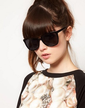 Image 3 ofASOS Bridge Detail Cat Eye Sunglasses