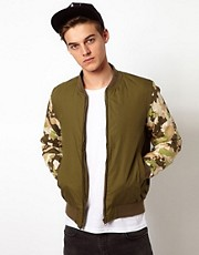 Bellfield Camo Jacket Wtih Camo Sleeves
