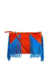 ASOS Suede Clutch Bag With Tassels