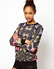 Neal Murren for ASOS Sweatshirt in Wonderland Print
