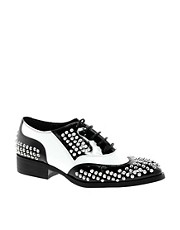 Truth Or Dare By Madonna Cedia Patent Brogues with Studs