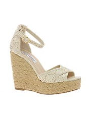 Steve Madden Marrvil Natural Platform Wedge Sandals